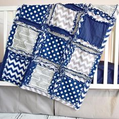 Custom tribal crib bedding in gray & navy blue with chevron, solid, and arrow fabric. Arrow Baby Boy Nursery Crib Set Sizes and Pricing Available in Drop Down Menu Care: - Bumpers: wipe clean - Quilt,