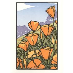 Boxed & Single Cards: Poppies in Bloom : Stationery | Gamble House Bookstore