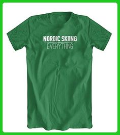 Nordic Skiing Over Everything T-Shirt, Men's, Kelly Green, Small - Sports shirts (*Amazon Partner-Link)