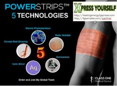 ingredients of PowerSrips to try click on the link below http://healingenergy.fgxpress.com