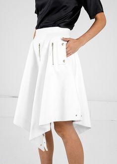 Pola Thomson Dynamic Denim Skirt | New Classics Studios | Eco Fashion
