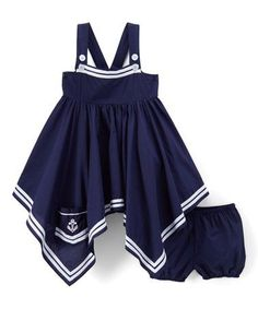 This Navy Handkerchief Tank Dress - Infant, Toddler & Girls is perfect! #zulilyfinds #BabyClothing