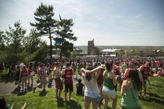 Music and fun at Slope Day, Cornell University, Ithaca NY