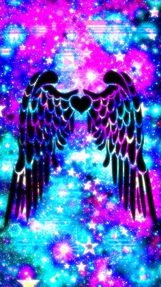 Wings Wallpaper, Angel Wallpaper, Trippy Wallpaper, Neon Wallpaper, Rainbow Wallpaper, Cute Wallpaper For Phone, Iphone Background Wallpaper, Colorful Wallpaper, Cellphone Wallpaper