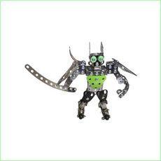 Metal Block Bricks Construction Toy Robot 2 http://www.greenanttoys.com.au/shop-online/models/metal-block-models/robot-2/