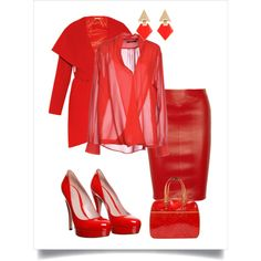 Day in red by chicmisses on Polyvore featuring TRY ME, Diane Von Furstenberg, Gucci and Louis Vuitton