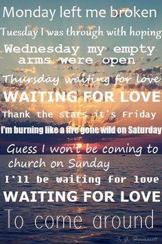 Avicii-Waiting for Love Avicii Lyrics, Music Lyrics, New Quotes, Lyric Quotes, Life Quotes, Funny Quotes, Waiting For Love Lyrics, All You Need Is, Tim Bergling