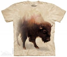 The Mountain Buffalo T-shirt | Bison Forest, Misc American Animal T-shirts by The Mountain, 104292