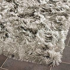 Safavieh Silken Silver Shag Rug (3' x 5')