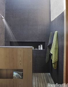 Renovation Inspiration: 5 Beautiful Showers with Black & Gray Tiles | Apartment Therapy