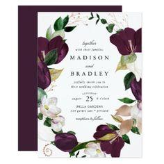 Invitation Card Design, Elegant Wedding Invitations, Wedding Invitation Cards, Invite, Floral Bouquets, Wedding Bouquets, Floral Save The Dates, Watercolor Wedding Invitations, Wedding Frames
