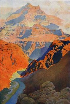 Maxfield Parrish's Grand Canyon. Wow, I love this print!