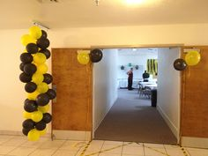 Balloon decor for Army themed going away party.