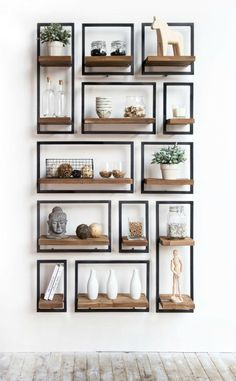 Twenty wall shelves that add style as well as storage to you.- Twenty wall shelves that add style as well as storage to your home - Bookshelf Design, Wall Shelves Design, Wall Mounted Shelves, Display Shelves, Corner Shelves, Small Wall Shelf, Industrial Wall Shelves, Decorative Wall Shelves, Cool Shelves