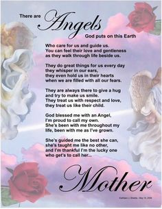 My sweet angel mother. <3