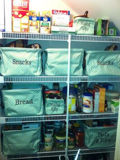 Look what you can do With Thirty one! Use the totes to organize your pantry! www.mythirtyone.com/erinseay