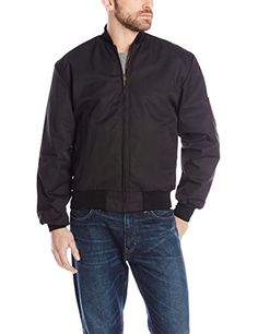 Red Kap Men's Solid Team Jacket, Black, Small Red Kap, Alexandria Policing Outfit
