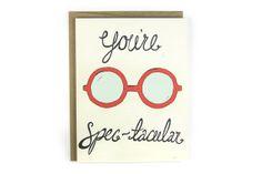 Valentine Card You're Spectacular Illustrated door hellosmallworld, $4.00