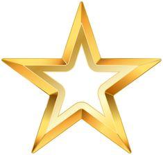 Gold Star PNG Transparent Clip Art Image