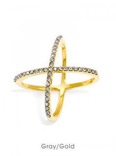 Crystal Mason Ring - $32.00