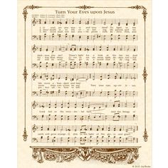 TURN Your EYES Upon JESUS  8 x 10 Antique Hymn by VintageVerses, $5.00