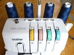 a quicker way to change serger thread // four square walls