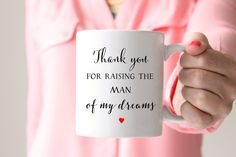 Your Mother of the Groom is sure to love this coffee mug! This mug makes the perfect gift for the Coffee or Tea loving Mom or Mother in Law- let's admit it, that's 99% of them. Amaze your Mother in la