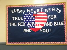 Each kid can make their own heart February Bulletin Boards, Classroom Bulletin Boards, Classroom Door, Classroom Ideas, Veterans Day Images, Veterans Day Celebration, Library Themes, Library Ideas, Elementary Music