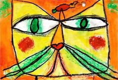 Artsonia Art Museum ::Paul Klee's Cat and bird