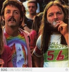 Just Paul McCartney and David Gilmour on a Led Zeppelin show.