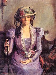 Gustave Van de Woestijne (Belgian artist, 1881-1947) MSK Boerinnetje 1913       Jean Édouard Vuillard (French painter, 1868-1940) Old Wo...