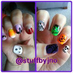 Halloween nailart inspired by cutepolish