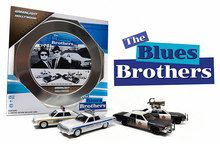 Greenlight 1/64 4 Car Hollywood Film Reels Blues Brothers Chicago Police 59010A www.DiecastAutoWorld.com 2312 W. Magnolia Blvd., Burbank, CA 91506 818-355-5744 AUTOart Bburago Movie Cars First Gear GMP ACME Greenlight Collectibles Highway 61 Die-Cast Jada Toys Kyosho M2 Machines Maisto Mattel Hot Wheels Minichamps Motor City Classics Motor Max Motorcycles New Ray Norev Norscot Planes Helicopters Police and Fire Semi Trucks Shelby Collectibles Sun Star Welly