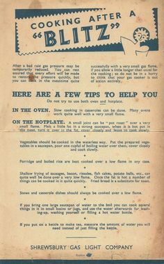 UK WWII : Wartime cooks were not just dealing with shortages of ingredients!