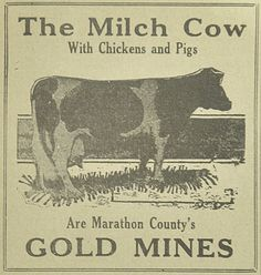 June 7, 1933 - The Milch Cow is Marathon County, Wisconsins gold mine!