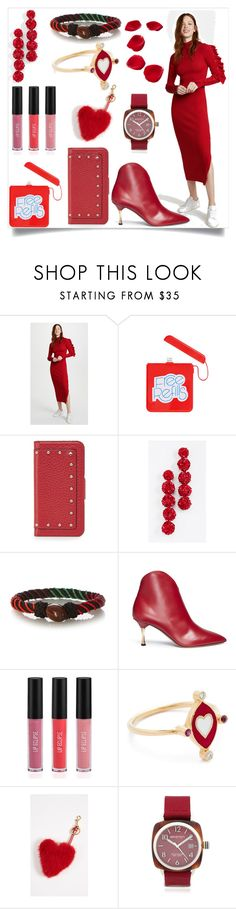 """Women in red"" by camry-brynn ❤ liked on Polyvore featuring ban.do, Sachin + Babi, Aurélie Bidermann, Valentino, Sigma, Holly Dyment, Anya Hindmarch and Briston"