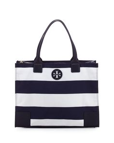 e38f437b2cc Tory Burch Blue Packable Ella Tote