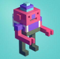 voxel character - Поиск в Google