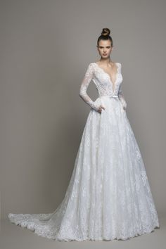ca5f0c1f Long Sleeve Lace A-line Wedding Dress. Brand new to Kleinfeld: Love by Pnina  Tornai ...