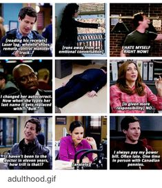 Tumblr Funny, Funny Memes, Hilarious, Best Tv Shows, Movies And Tv Shows, Watch Brooklyn Nine Nine, Aliens Funny, Parks N Rec, Comedy Tv