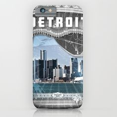 The+Big+Show+-+Detroit,+Michigan+iPhone+&+iPod+Case+by+The+Mighty+Mitten+-+Great+Lakes+Art+-+$35.00