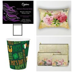 New products on store. #yardsign #rectangularpillow #papercup #carryallpouch