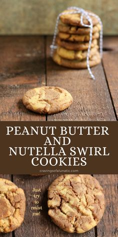 These Peanut Butter Nutella Swirl Cookies are easy to make and chock full of deliciousness. Nothing beats homemade peanut butter cookies! #peanutbutter #nutella #cookies #baking #christmascookies Homemade Peanut Butter Cookies, Peanut Butter Recipes, Best Cookie Recipes, Best Dessert Recipes, Fun Desserts, Delicious Desserts, Best Chocolate Desserts, Chock Full, Yummy Cookies