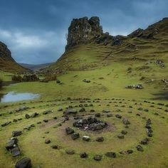 The Isle of Skye, Scotland, is so beautiful, and full of stories of the Little People! This area is called The Fairy Glen ♥♥♥ Via @fototripper