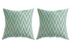 Sea foam pillows. OKL