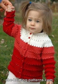 Craft Passions: Sweetheart Child's Eyelet Cardigan.# free #knitting pattern link here