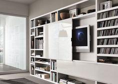 Mueble modular de pared composable lacado Crossing Colección MisuraEmme by MisuraEmme | diseño Mauro Lipparini, CRS MisuraEmme