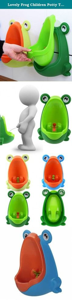 Lovely Frog Children Potty Toilet Training Kids Urinal for Boys Pee Trainer Bathroom. Lovely Frog Children Potty Toilet Training Kids Urinal for Boys Pee Trainer Bathroom Environmentally friendly material, nontoxic and no peculiar smell. Urine groove separation design and light surface makes the item easy to clean. Lovely frog shape and rotating windmill improves your babies' interest and trains they pee by themselves. Strong sucker can adjust the height of the item according to babies'...