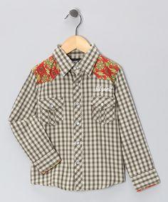 Olive & Cream Gentleman's Western Button-Up - Toddler & Boys