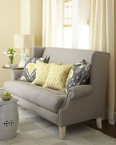 tufted rolled arm sofa.